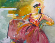 "Painting, Figurative Painting  by Susana Arias, ""Woman for all Seasons"""