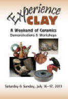 Poster for Experience Clay, event organized by artist Susana Arias